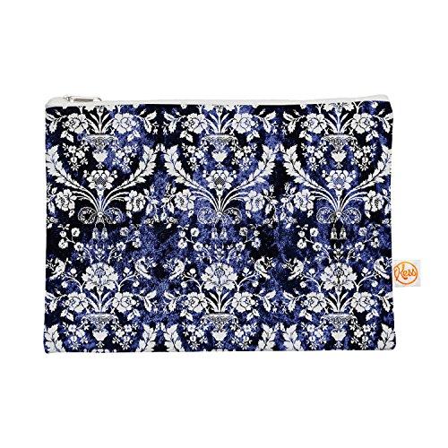 Kess eigene 12,5x 21,6cm Original'Barock Blau Samt' Alles Tasche–Floral