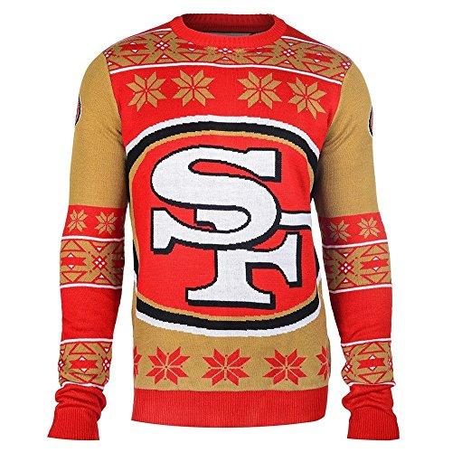 San Francisco 49ers Big Logo Crewneck NFL Ugly Sweater S - Big Crewneck Sweatshirt