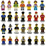 ShineMore Beauty 28 Minifiguren Zubehören Set Berufsfiguren Gemeinschaft Gemeinde 28 teilig Spielzeug für Kinder, Mini Spielfiguren mit Lego kombinierbar (28Minifigurens)