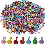 500pezzi mini Brads, Wowot 5mm multicolore rotondo BRAD, carta artigianale timbro scrapbooking DIY Tool