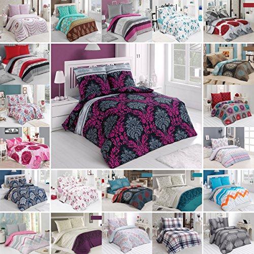 Baumwolle Bettwäsche Bettbezug (BUYMAX Bettwäsche Bettgarnitur Bettbezug Deckenbezug 2-3 teilig mit Reißverschluss Baumwolle OEKO-TEX® (200x200 cm, Design 10))