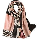 Leopard Print Women Shawl Scarf - Lightweight Cape Shrugs Wraps Pashmina Stole Neckerchief Autumn Summer Winter Soft Long Wed