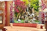 Kuamai 3D Wallpaper Fresh Flower Vine Waterfall Water 3D TV Background Wall Wallpapers for Living room-280X200CM