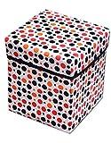 Dreams Home White Circle Design Stool / Storage Box / Multipurpose Box / Laundry box / Organiser