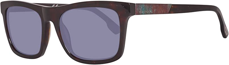 Diesel Mirrored Square Unisex Sunglasses - (DL0120 54 86C|54|Blue Color Lens)
