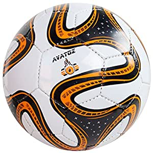 Avatoz Brazuca Replica Football - Size: 5, Diameter: 26 cm (Pack Of 1, Multicolor)