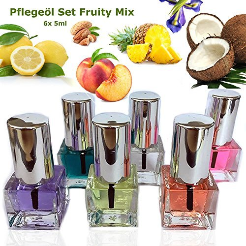 Bade-Öl Flasche (Nagel Pflegeöl Set Fruity Mix 6 x 5 ml)