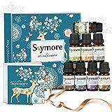 Skymore Top 8 Set di oli essenziali puri, 100% di oli essenziali di aroma per diffusore, (citronella, lavanda, tea tree, eucalipto, arancio, menta, incenso e rosmarino), set regalo natalizio 8x10ml