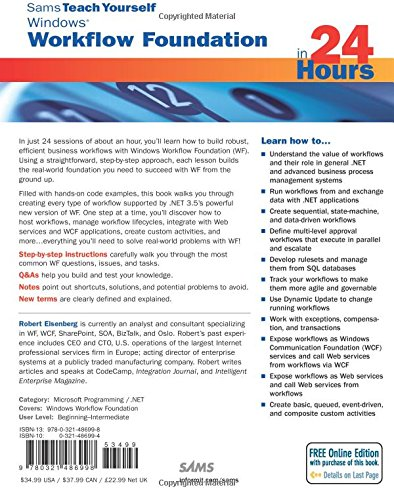 Sams Teach Yourself Windows Workflow Foundation (WF) in 24 Hours (Sams Teach Yourself in 24 Hour)