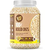 Yogabar 100% Rolled Oats 1.2 kg | Premium Golden Rolled Oats, Gluten Free Oats with High Fibre, 100% Whole Grain, Non GMO | H