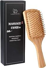 Haarbürste,LUOLLOVE Paddle Brush mit Natürlichen Borsten,AntistatischBambus Bürste,Geschenke Styling Haarbürste für Männer,Frauen und Kinder(A Art)