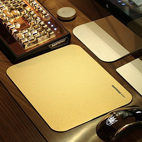 rantopad-ats-ultra-thin-2mm-aluminium-surface-core-gaming-mouse-pad-frosted-matte-11x8x008in-gold