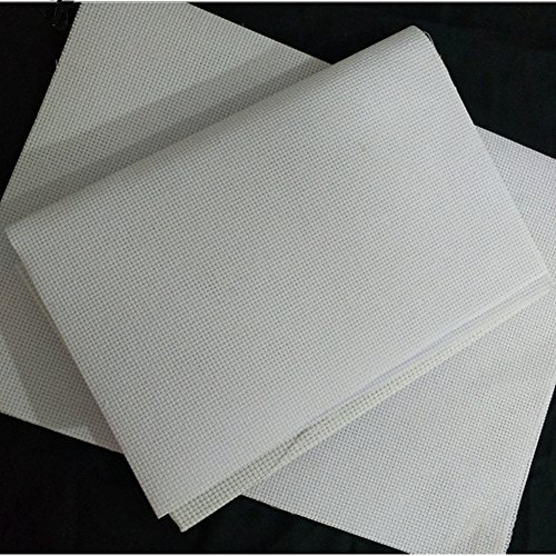Cleana Arts Kreuzstich Stoff Aida Stoff Standard Aida Weiß 14 Count 45cm X 30cm, Weiß