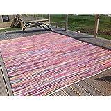Gorgeous segunda naturaleza Eco-friendly Multicolor Chindi alfombra de trapo–más de 20tamaños inc corredores y cuadrado, algodón, Multi Colours, 250cm x 250cm