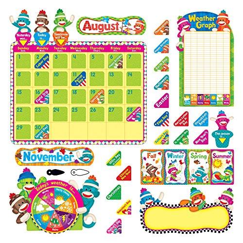 /10,2cm Sock Monkeys Kalender Bulletin Board Set, 102Teile (tept8416) ()
