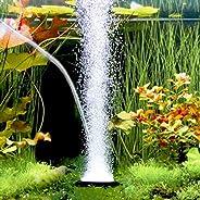 ANTOLE 4-Inch Aquarium Bubble Stone Bubble Disk Round Fish Tank Bubbler for Hydroponics, Small Bubbles, Ultra-