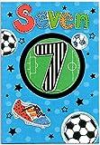 Fußball Geburtstag Karte für sieben (7), Jahr Alten Jungen–Kostenloser 1st Class Post (UK)