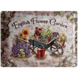 Nostalgic-Art 23121 Home & Country - English Flower Garden, Blechschild 30x40 cm