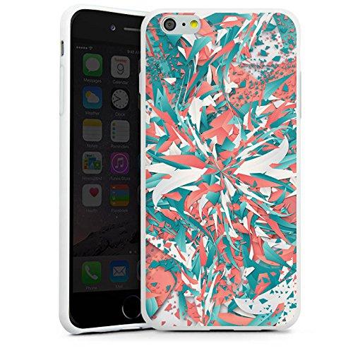 Apple iPhone X Silikon Hülle Case Schutzhülle Farben Explosion Kristalle Silikon Case weiß