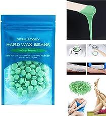 Houkiper L'indolore indolore della crema dei fagioli della cera di depilazione di ideale per la depilazione del corpo un albero del tè di dimensione 50g