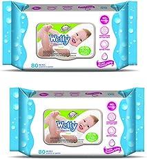 Wetty Premium Wet Wipes - Fresh (80 + 80 Count)