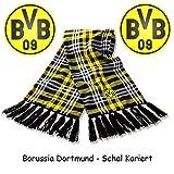 Borussia Dortmund Schal / Scarf / Fanschal - Kariert BVB 09