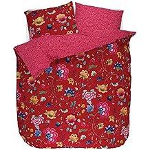 pip studio pip parure de lit floral fantasy red coton 135 x 200 cm