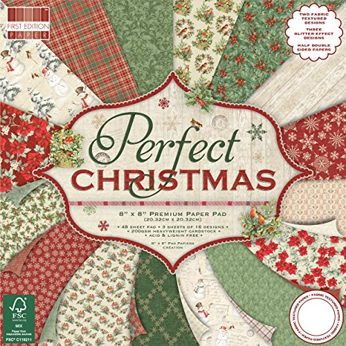 First Edition Weihnachten, Mehrfarbig, First Edition Christmas - Perfect Christmas Premium Paper Pad 8