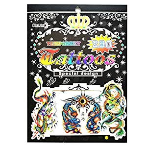 Gifts 4 All Occasions Limited SHATCHI-1008 No. 12 - Bolsa de tatuajes temporales para fiestas, impermeable, no tóxica, pegatina para niños, multicolor