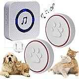 ChunHee Timbre inalámbrico para Perro/Entrenamiento Mascotas/Timbre Inteligente Funciona a 500Pies con Botón Táctil Impermeab