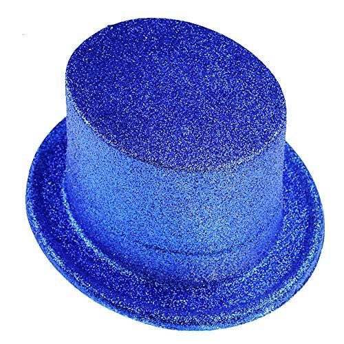 FXXUK Glitter Kostüm Hut Kunststoff Jazz Top Hut Unisex Headwear Zubehör für Halloween Kostüme Stage Show Dance - Jazz Dance Show Kostüm