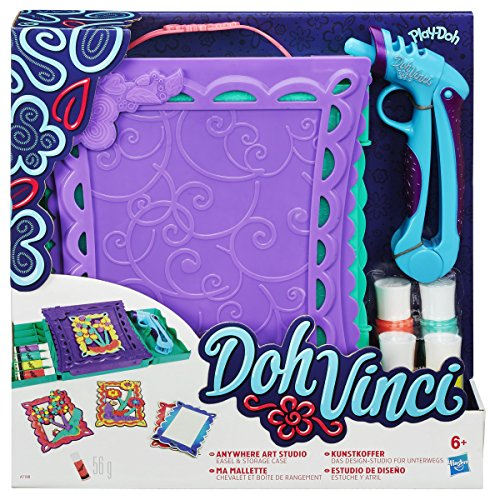 Hasbro dohvinci- doh vinci anywhere art studio easel & storage case set-modeling dough female, a7198
