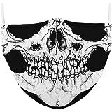 KIACIYA Mundschutz mit Motiv Halloween Joker Skull Totenkopf Blut Horror 3D Lustig Mund und Nasenschutz Waschbar mit Filter Damen Herren Kinder Bunt Sch/ädel Multifunktionstuch Halstuch Bandana