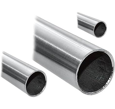 Edelstahl Rundrohr V2A /Ø 54x2mm L/änge 150mm K240 15cm auf Zuschnitt
