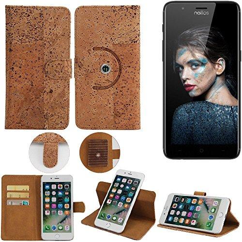 K-S-Trade Schutz Hülle TP-LINK Neffos N1 Handyhülle Kork Handy Tasche Korkhülle Schutzhülle Handytasche Wallet Case Walletcase Flip Cover Smartphone Handyhülle