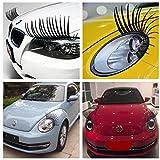 Silence Shopping Schwarze stereoskopische Auto-Peitschen Scheinwerfer Wimpern Zubehör Auto Licht Wimpern Aufkleber Abziehbild Auto 3D Aufkleber
