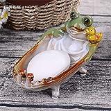 PORCN Obstteller Europäischen ländlichen Garten Keramik soap Box kreative aschenbecher Schafe Rinder Katze seifenschlüssel Kleine wechselplatte Kleine obstteller 19 * 9 cm, D