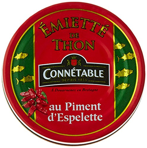 Connétable Emietté de Thon au Piment 80 g - Lot de 7