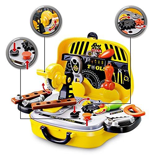 SainSmart Jr. Spielwerkzeug Werkzeugkoffer für Jungen, Weihnachtsgeschenk für Kinder  Kleine Ingenieure