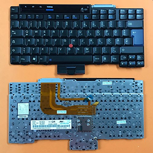 kompatibel für Lenovo ThinkPad X300, X301 Tastatur - Farbe: schwarz - mit Stick-Point - Deutsches Tastaturlayout -