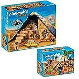 PLAYMOBIL® History 2er Set 5386 5387 Pyramide des Pharao + Grabräuber-Lager
