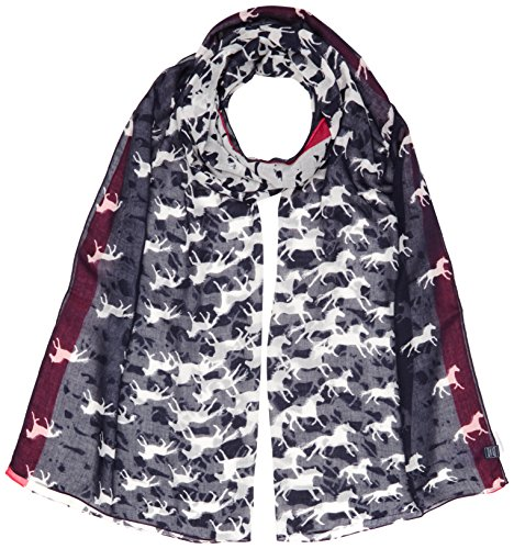 61oSjEjff2L BEST BUY UK #1Joules Womens Wensley Scarf, Multicoloured (Navy Horse), One Size price Reviews uk