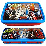 KP Ski Disney Marvel Avenger Printed Combo Set Of Beautiful Lunch Box & Double Level Pencil Box For Kids Boys & Girls