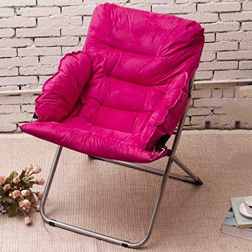 Jack Mall Klappstuhl Liegestuhl/Liegestuhl / Einzel-Sofa Stuhl/Mittagspause Rückenlehne (Farbe : Rose rot) -
