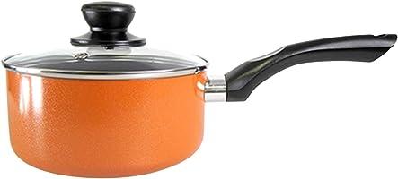Westfalia 26 Cm Lacheln Pressed Aluminium With Whitford Xylan Saute Pan With Glass Lid, Orange