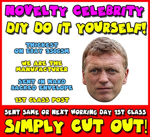 DIY - Do It Yourself Face Mask - David Moyes Celebrity Face Mask