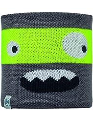 Buff Kinder Child Knitted und Polar Neckwarmer C Multifunktionstuch, Novy Scary Grey C, One Size