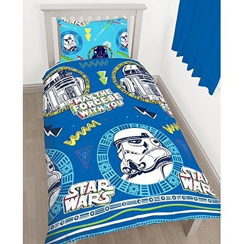 Disney Star Wars Classic Doodle Rotary Print Bettbezug-Set, Polyester, mehrfarbig, Single by Disney