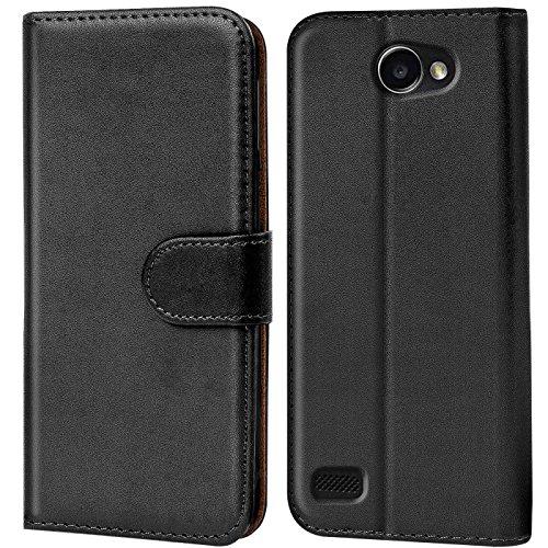 Verco Bello 2 Hülle, Handyhülle für LG Bello 2 Tasche PU Leder Flip Case Brieftasche - Schwarz