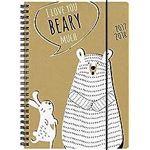 Brunnen 1072983148 Schülerkalender Beary (1 Woche in 2 Seiten, August 2017 bis Juli 2018)